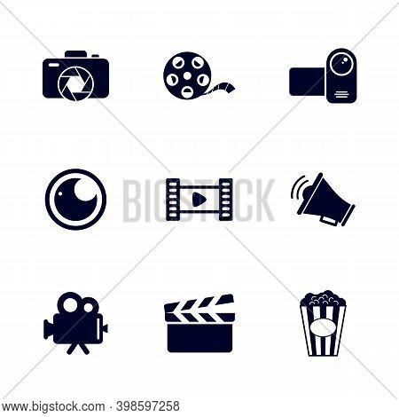 Set Of Movie Icon Logo Vector Template, Creative Movie Logo Concept, Icon Symbol, Illustration