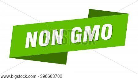 Non Gmo Banner Template. Non Gmo Ribbon Label Sign