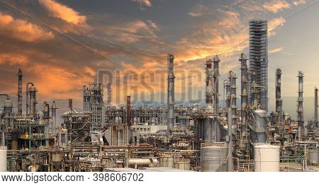 Oil Refinery Petrochemical Plant Factory From Osaka Japan