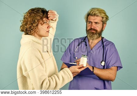 Medical Help. Medical History. Doctor Communicate Woman. Drug Overdose. Daily Rate Medicines. Virus