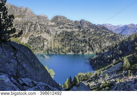 Gerber Valley In Summer, National Park Of Aigüestortes And Estany Of Sant Maurici.