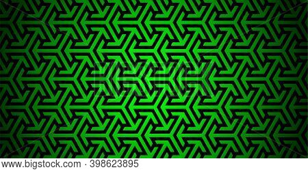 Abstract Pattern With Arrows. Simple Modern Background With Intertwined Arrows. Modern Abstract Back