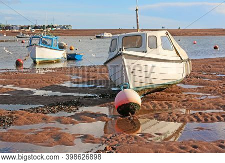 Boat Moored On The River Teign At Low Tide