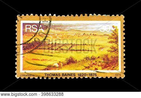 South Africa - Circa 1975 : Cancelled Postage Stamp Printed By South Africa, That Shows Painting By