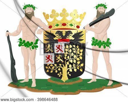 3d 's-hertogenbosch Coat Of Arms (north Brabant), Netherlands. 3d Illustration.