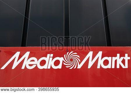Dietikon, Switzerland - November 24, 2020: Media Markt Is A German Multinational Chain Of Stores Sel