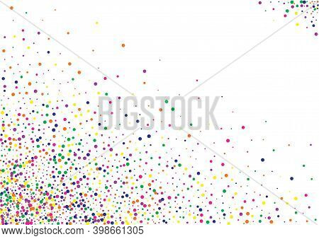 Color Splash Celebration White Background. Carnaval Rain Backdrop. Carnival Shine Postcard. Green Co