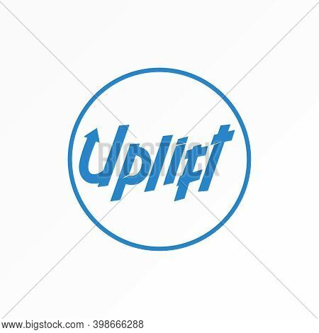 Uplift Logo. Uplift Writing Design. Typography Concept. Can Be Used As A Symbol Related To Lettterin