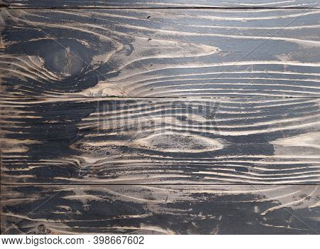 black paint beautiful abstract striped on old rustic wooden plank table or wall texture background, vintage hardwood panel for home decor wallpaper