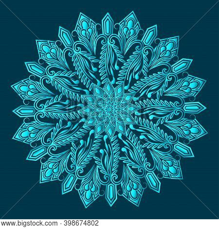 Floral Arabesque Greenish Blue Color Luxurious Ornamental Background Design And Islamic Abstract Man