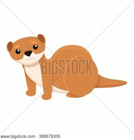 Mink Animal Icon. Cartoon Of Mink Animal Vector Icon For Web Design Isolated On White Background