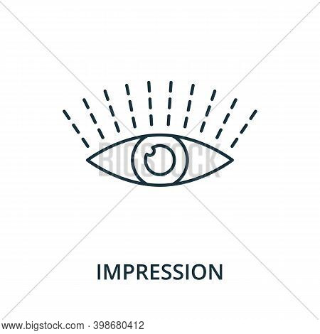 Impression Icon. Line Style Element From Reputation Management Collection. Thin Impression Icon For