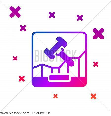 Color Online Internet Auction Icon Isolated On White Background. International Trade Concept. Invest