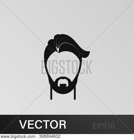 Male Hairstyle And Beard Icon.element Hairstyles Icon. Premium Quality Graphic Design. Signs, Symbol