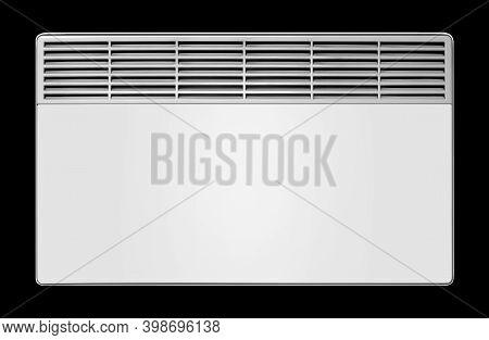 Home Appliance - Electric Convection Heater On A Black Background. Isolated