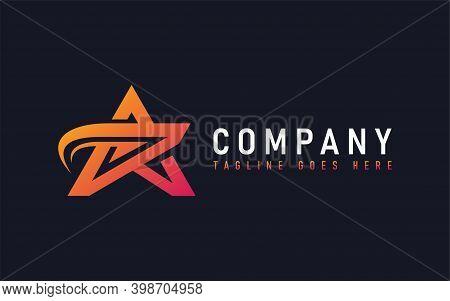 Abstract Star Logo Design. Modern Orange Star Symbol Design Usable For Business, Community, Foundati