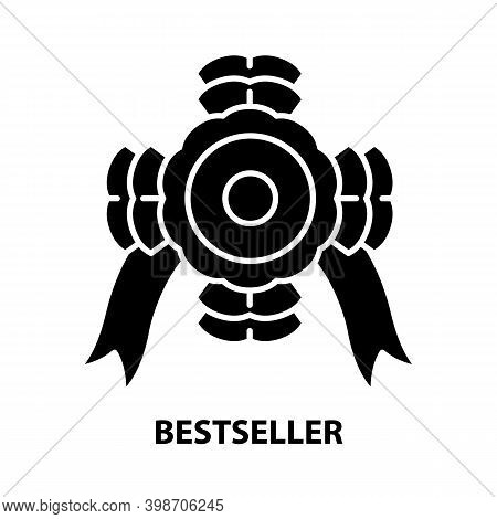 Bestseller Icon, Black Vector Sign With Editable Strokes, Concept Illustration