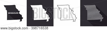 State Of Missouri. Map Of Missouri. United States Of America Missouri. State Maps. Vector Illustrati