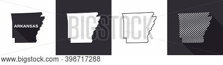 State Of Arkansas. Map Of Arkansas. United States Of America Arkansas. State Maps. Vector Illustrati
