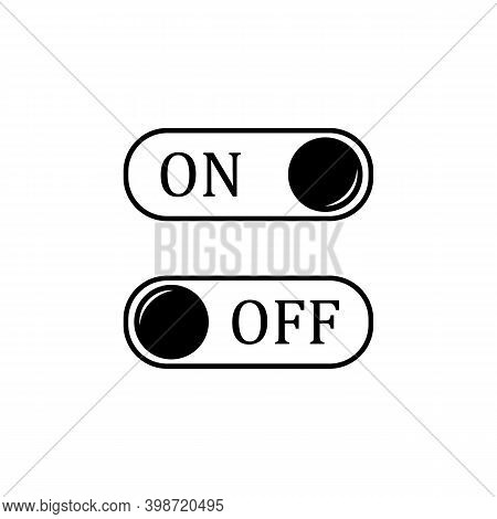 On And Off Toggle Switch Button Vector Image
