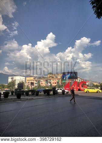 Beautiful City Center Of Tirana In Albania 6.8.2015