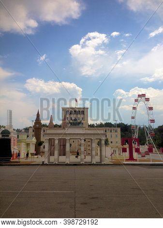 Beautiful City Center Of Tirana In Albania 7.8.2015