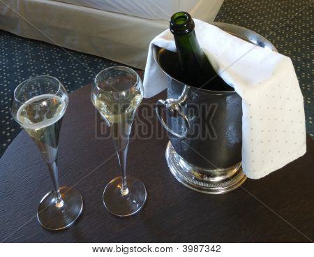 Iced Bucket Of Champagne