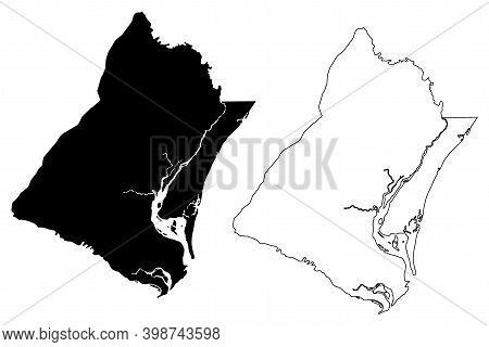 Georgetown County, State Of South Carolina (u.s. County, United States Of America, Usa, U.s., Us) Ma