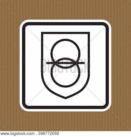 Safety Isolating Transformer Symbol Sign Isolate On White Background,vector Illustration Eps.10