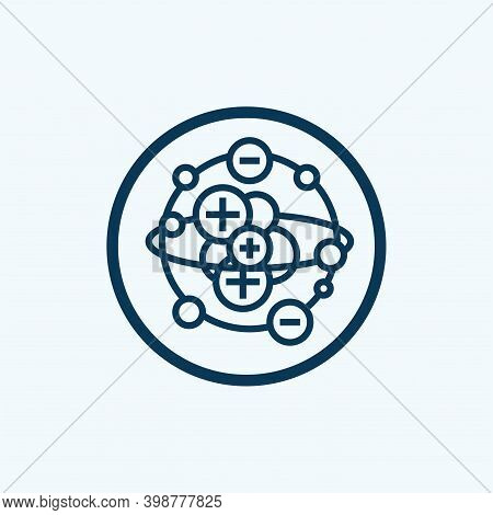 Atom Icon Isolated On White Background From Sustainable Energy Collection. Atom Icon Trendy And Mode