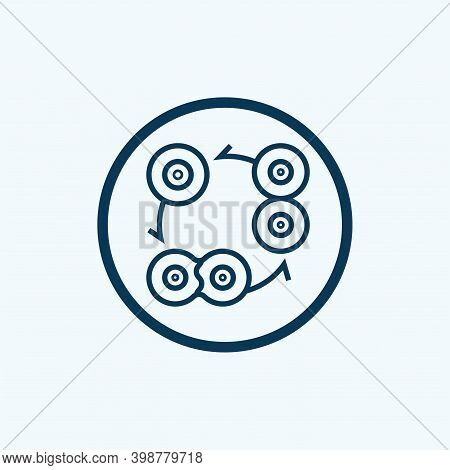 Cell Division Icon Isolated On White Background. Cell Division Icon Simple Sign. Cell Division Icon