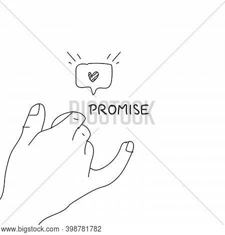 Line Art Hand Drawn Promise Concept Design