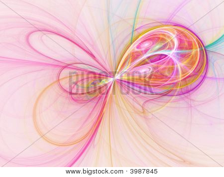 poster of abstract mysterious dream cell flow rays on white background