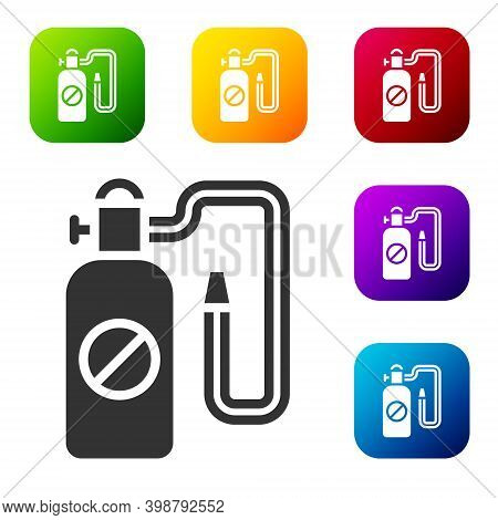 Black Pressure Sprayer For Extermination Of Insects Icon Isolated On White Background. Pest Control