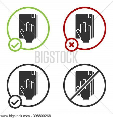 Black Oath On The Holy Bible Icon Isolated On White Background. The Procedure In Court. Truth And Tr