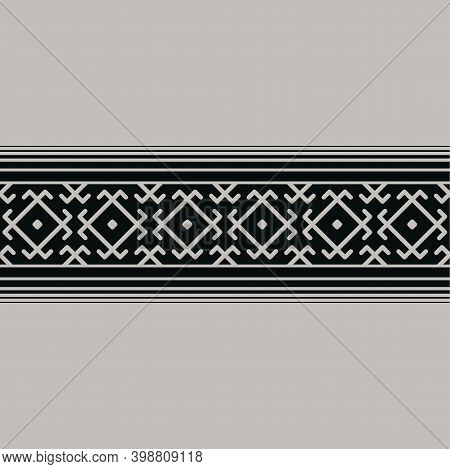 The Background Is Made In A Traditional Ancient Ukrainian Pattern. Embroidery Or Pagan Symbols.