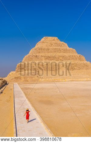 The Entrance Columns To The Stepped Pyramid Of Djoser, Saqqara. Egypt. The Most Important Necropolis