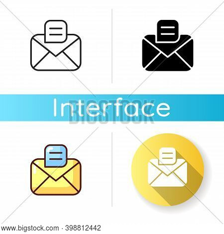 Message App Icon. Texting And Chat Application. Messenger Conversations. Sending Emails And Text Mes