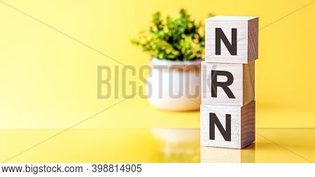 Nrn - Acronym From Wooden Blocks With Letters. Nrn - No Reply Is Necessary. Search Engine Marketing,