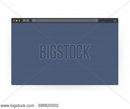 Browser Window Vector Illustration. Browser Or Web Browser In Flat Style. Window Concept Internet Br