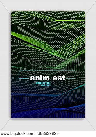 Art Linear Vector Minimalistic Trendy Brochure Design, Cover Template, Geometric Halftone Gradient.