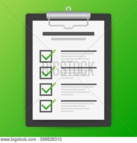 Clipboard With Checklist Icon. Checklist Icon For Web.