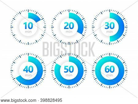 Stopwatch Vector Icon, Digital Timer. Clock And Watch, Timer, Countdown Symbol. Vector Illustration