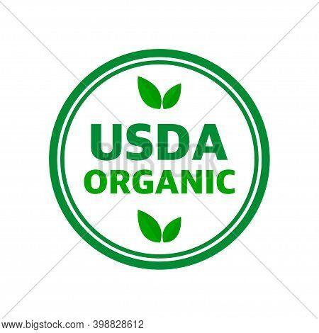 Usda Organic Shield Sign, Symbol No Gmo Vector Icon