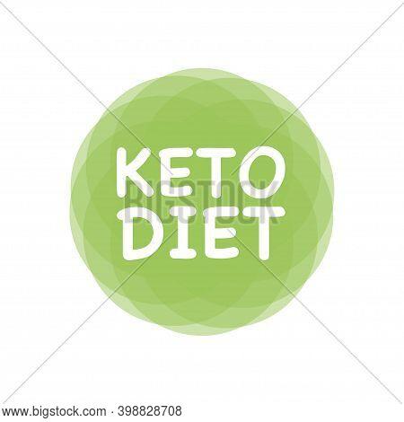 Ketogenic Diet Logo Sign Keto Icon Stamp.