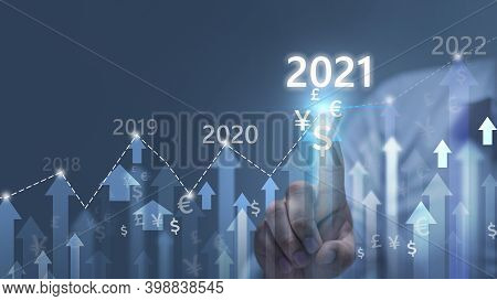 Business Concept Growth Success Process In The Year 2021