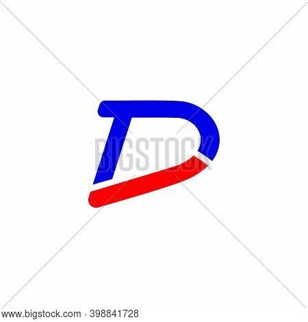 Abstract Letter Td Simple Line Colorful Symbol Logo Vector