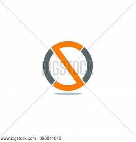 Letter Os Circle Geometric Simple Design Logo Vector