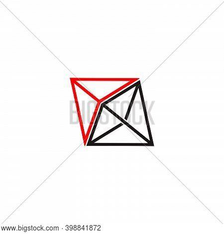 Vector Of 3d Arrows Triangle Line Geometric Logo