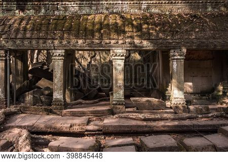 The Mystery Place In Ta Prohm Temple, One Of Angkor's Best Visited Monuments In Siem Reap, Cambodia.
